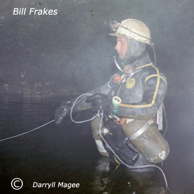A cave dive with Bill Frakes